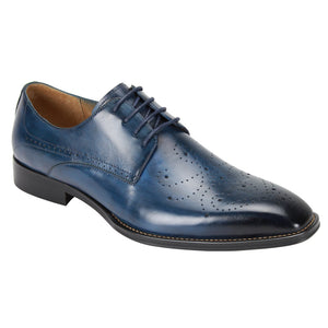 Giovanni Joel Blue Oxford Dress Shoes