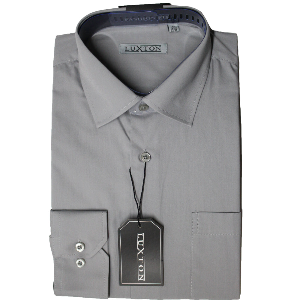 Luxton Gray Regular Fit Dress Shirt