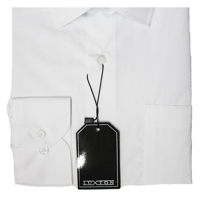 Luxton White Regular Fit Dress Shirt
