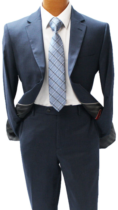 MDZ Navy Windowpane Modern Fit Suit