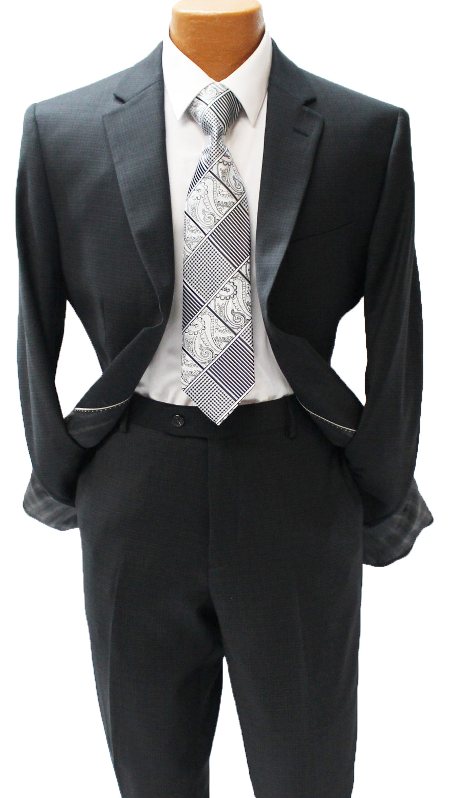 Black Check Modern Fit Suit