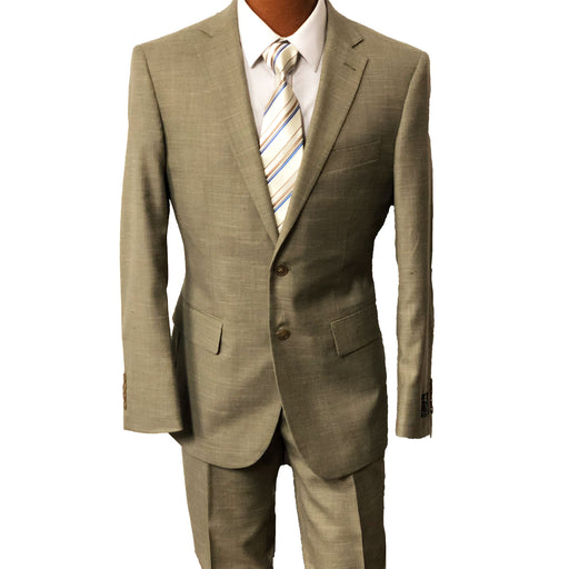 MDZ Tan Textured Modern Fit Men's Suit