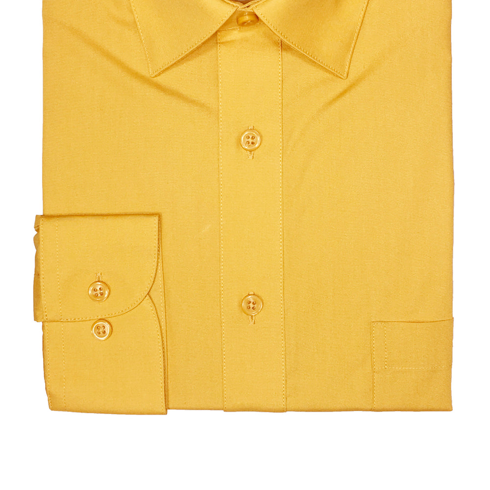 Marquis Mustard Regular Fit Dress Shirt
