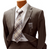 Profile Mocha Textured Slim Fit Suit