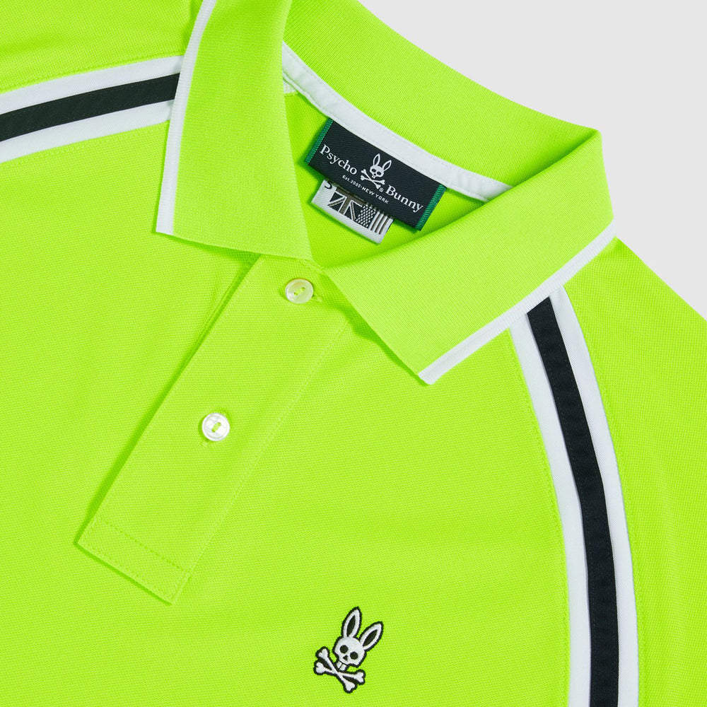 Psycho Bunny Tapton Sport Polo - Electric Lime