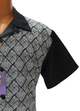 R. Lewis Black and White Geometric Short Sleeve Shirt and Pants Sport Set