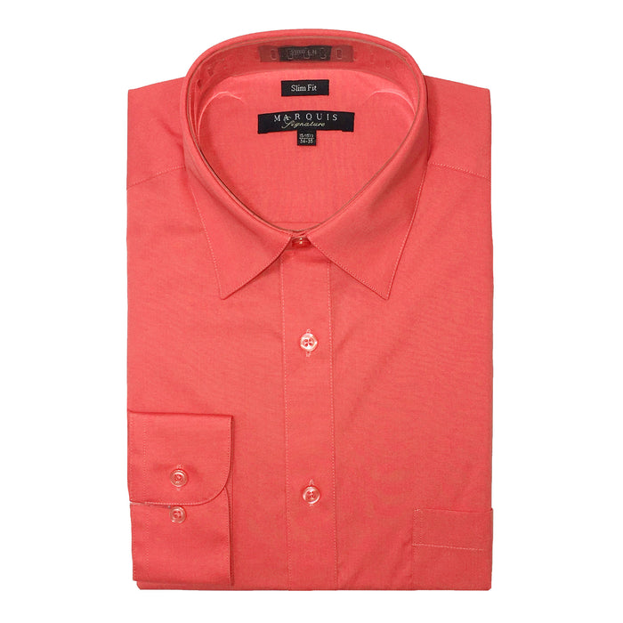 Marquis Salmon Slim Fit Dress Shirt