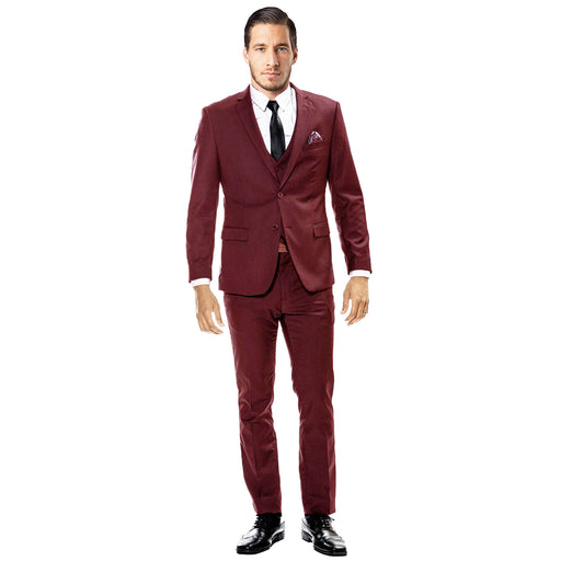 Sean Alexander Burgundy Ultra Slim Fit Suit