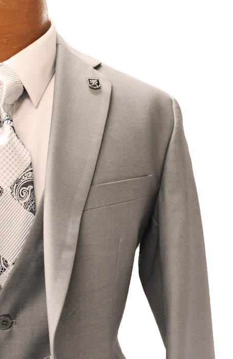 Stacy Adams Bud Gray Vested Modern Fit Suit