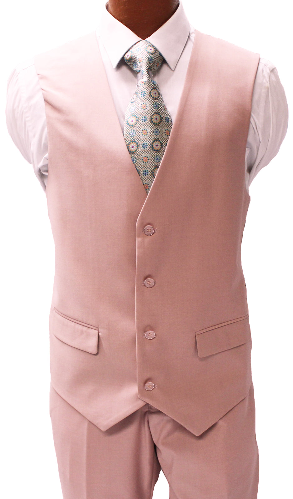 Stacy Adams Bud Light Pink Vested Modern Fit Suit