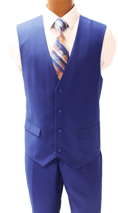 Stacy Adams Bud Royal Blue Vested Modern Fit Suit