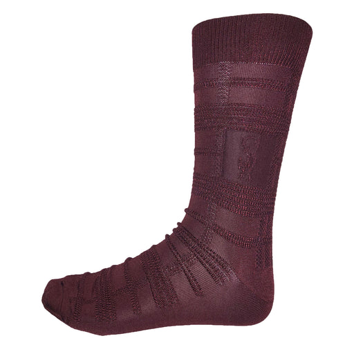 Stacy Adams Burgundy Dress Socks