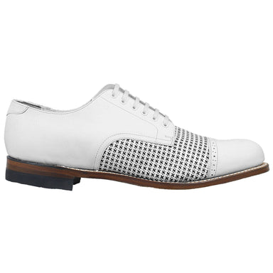 Stacy Adams Madison White Cap Toe Oxford Dress Shoes