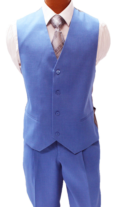 Stacy Adams Suny Blue Vested Classic Fit Suit