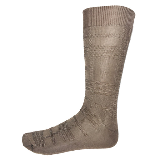 Stacy Adams Taupe Dress Socks