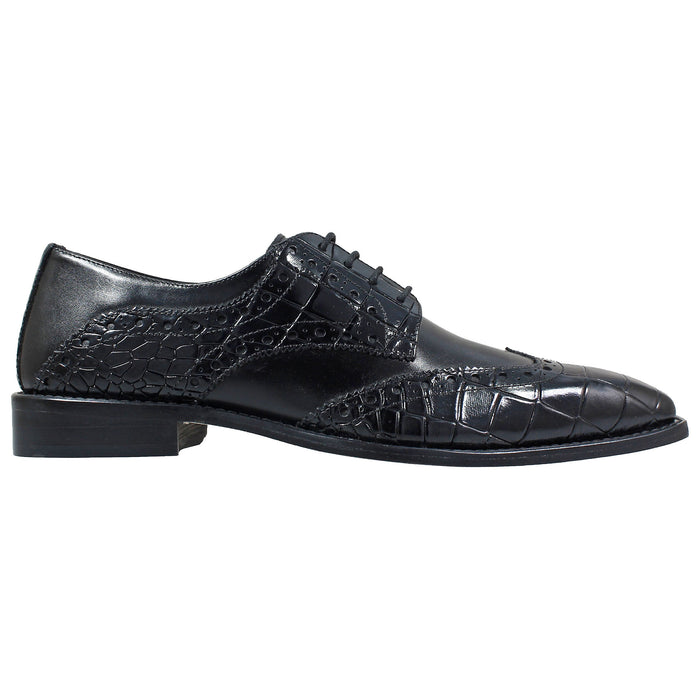 Stacy Adams Tomaselli Black Wingtip Oxford Shoes