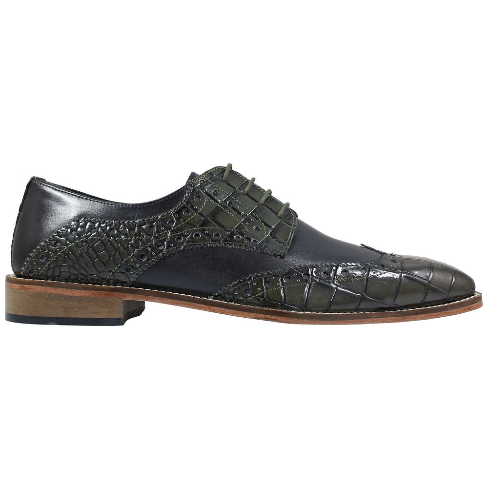 Tomaselli Olive Wingtip Oxford Shoes
