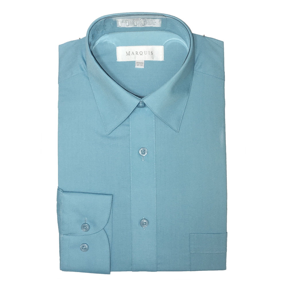 Marquis Turquoise Regular Fit Dress Shirt