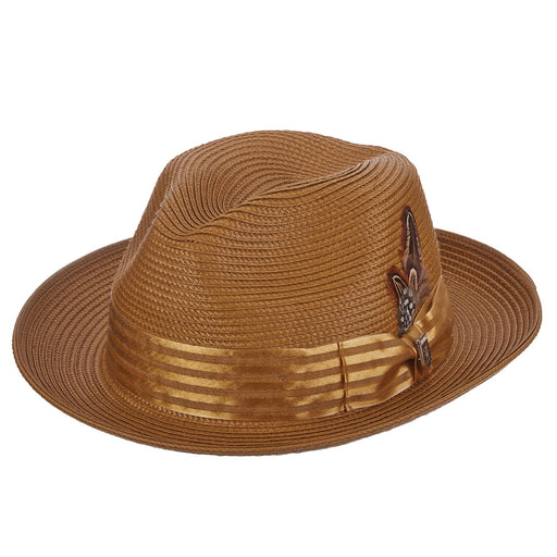 Stacy Adams Kingston Tea Poly Braid Fedora Hat