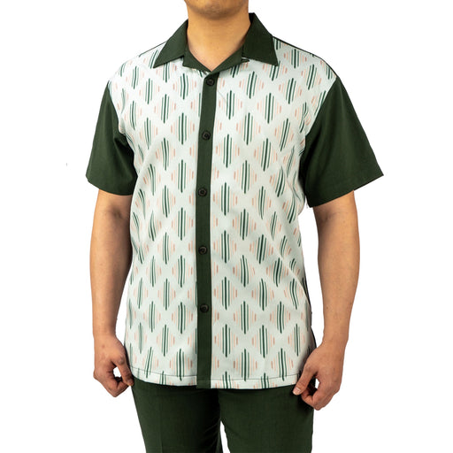 Bruno Conte Pattern Hunter Green Walking Suit