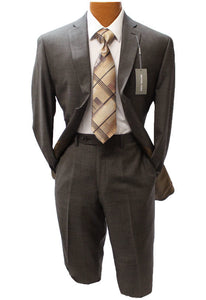 Michael Kors Brown Textured Modern Fit Suit