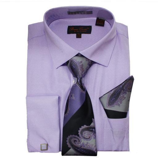 Bruno Conte 1080 Light Lilac Regular Fit Dress Shirt Combo