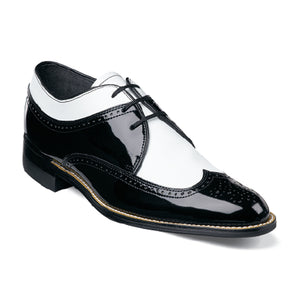 Stacy Adams Dayton Black and White Wingtip Oxford Shoes