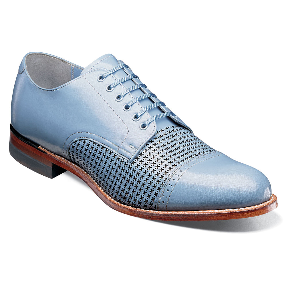Stacy Adams Madison Chalk Blue Cap Toe Oxford Dress Shoes
