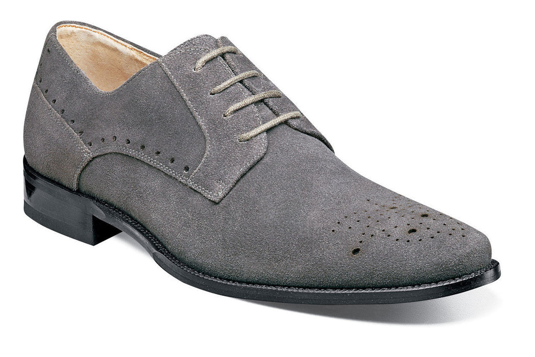 Stacy Adams Kensington Gray Suede Oxfords