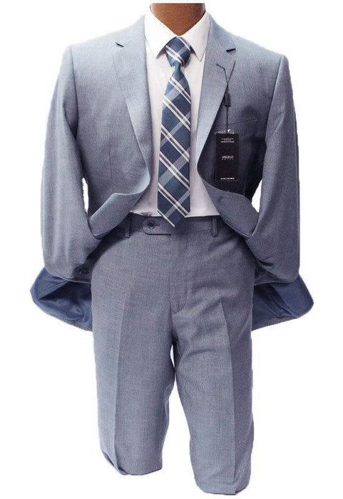 Angelo Rossi Baby Blue Modern Fit Suit