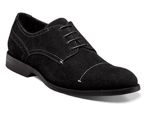 Stacy Adams Wilcox Black Suede Oxfords