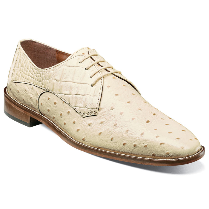 Stacy Adams Russo Ivory Plain Toe Oxford Dress Shoes