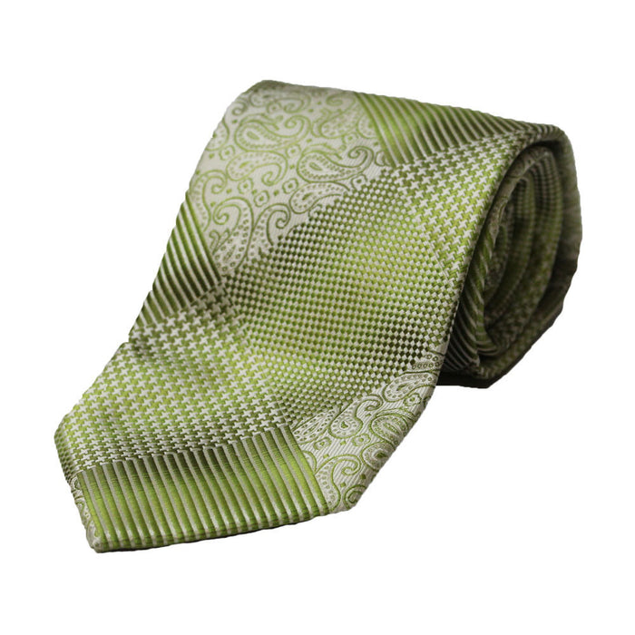 Stacy Adams Green Squared Tie and Handkerchief