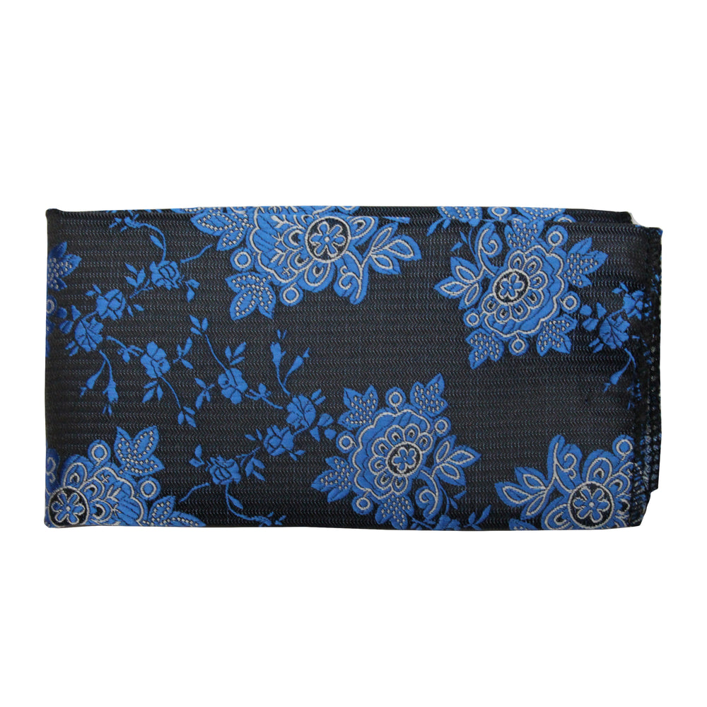 Gianfranco Floral Blue Tie and Handkerchief