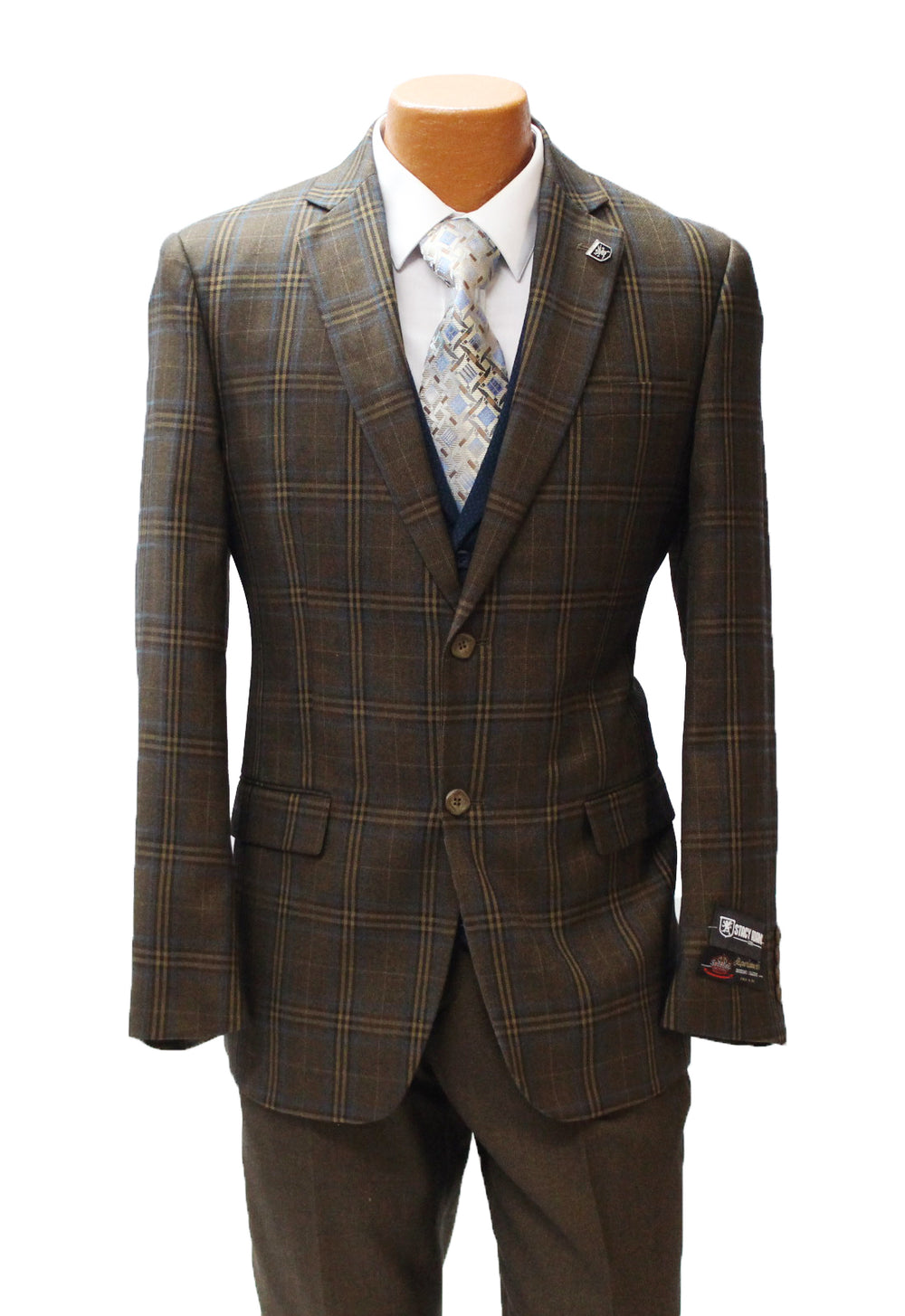 Town Brown Vested Classic Fit Suit