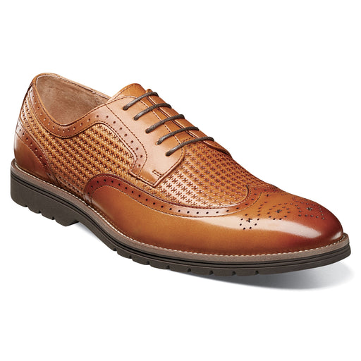 Stacy Adams Emile Tan Wingtip Oxford Shoes
