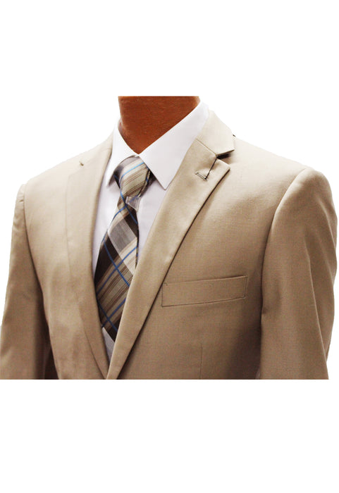 Angelo Rossi Camel Modern Fit Suit