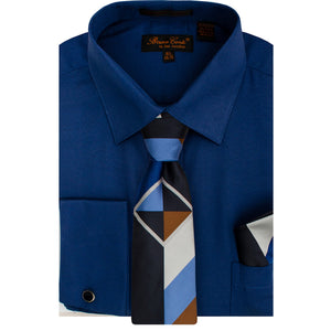 Bruno Conte 1085 Navy Regular Fit Dress Shirt Combo