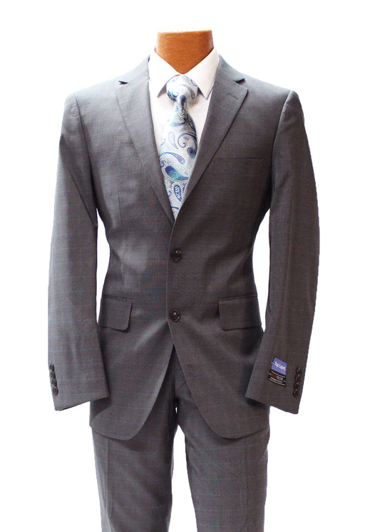 TopLapel Charcoal Glen Plaid Modern Fit Suit