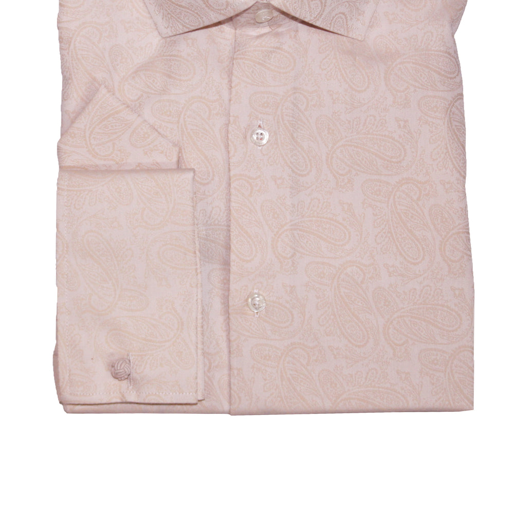Steven Land TA1608 Ecru Regular Fit Dress Shirt