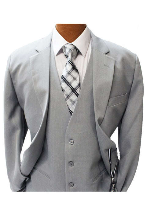 Stacy Adams Suny Light Gray Vested Suit