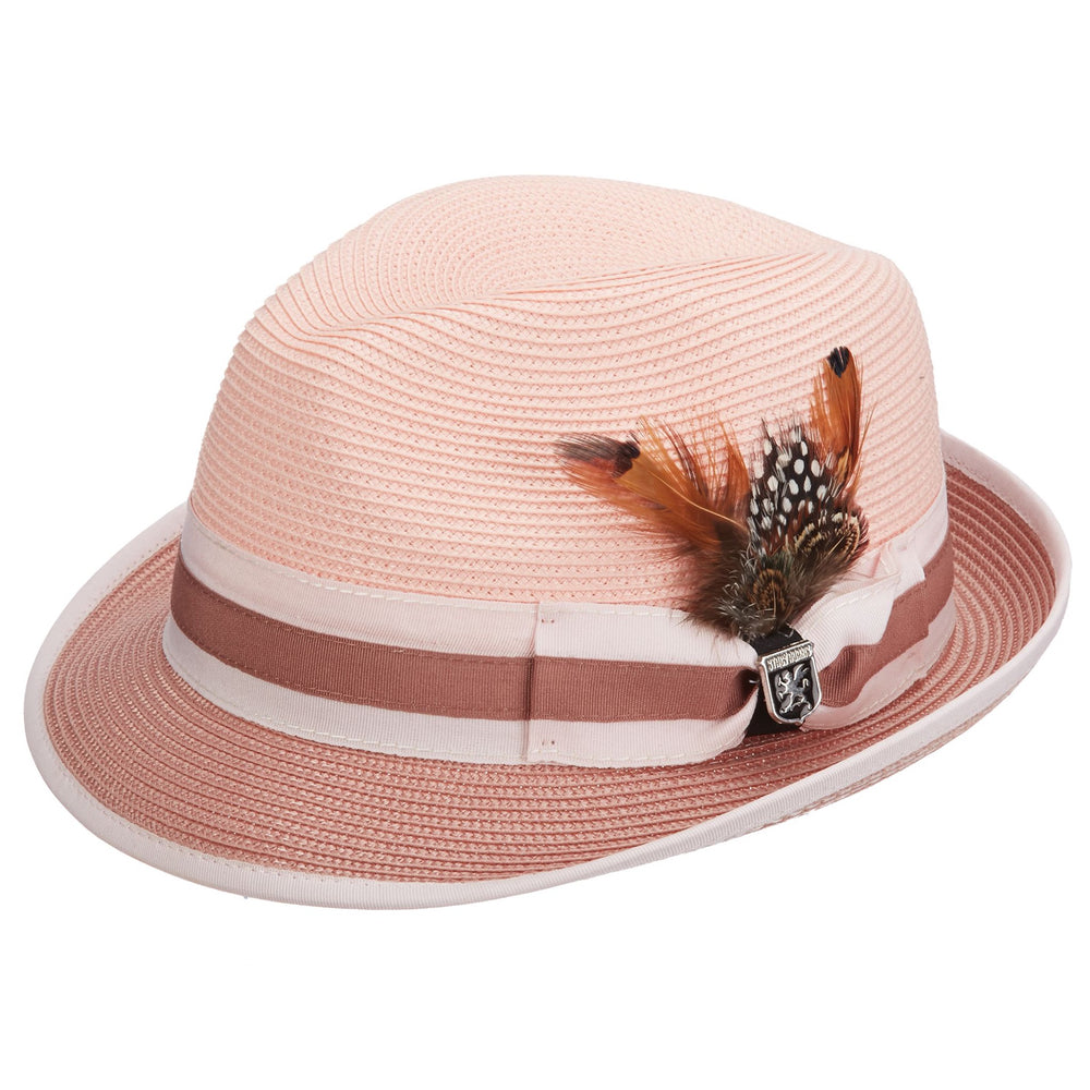 Stacy Adams Gordonville Rose Poly Braid Fedora Hat
