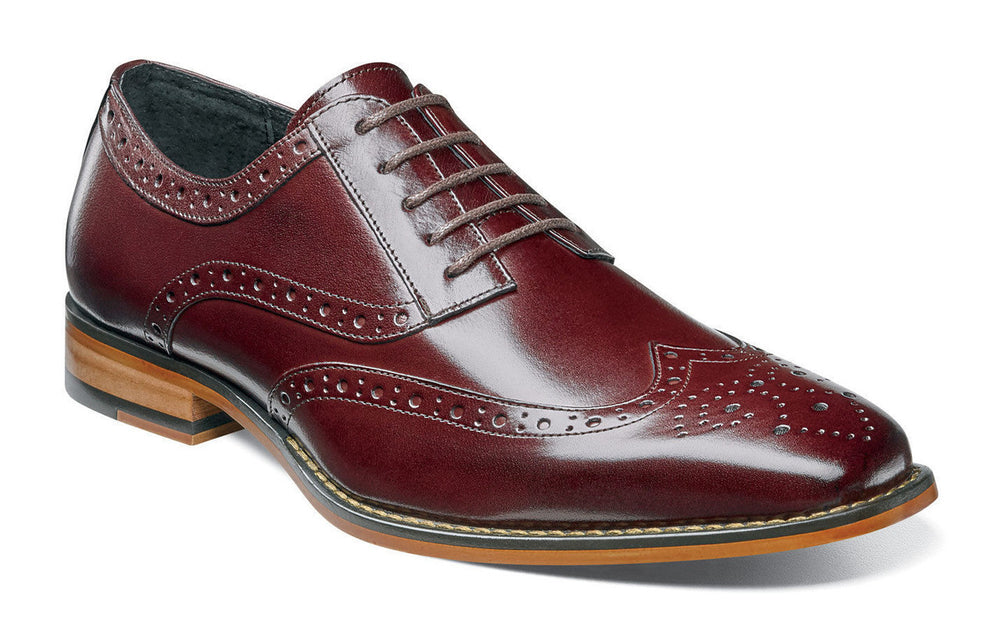 Stacy Adams Tinsley Burgundy Wingtip Oxfords