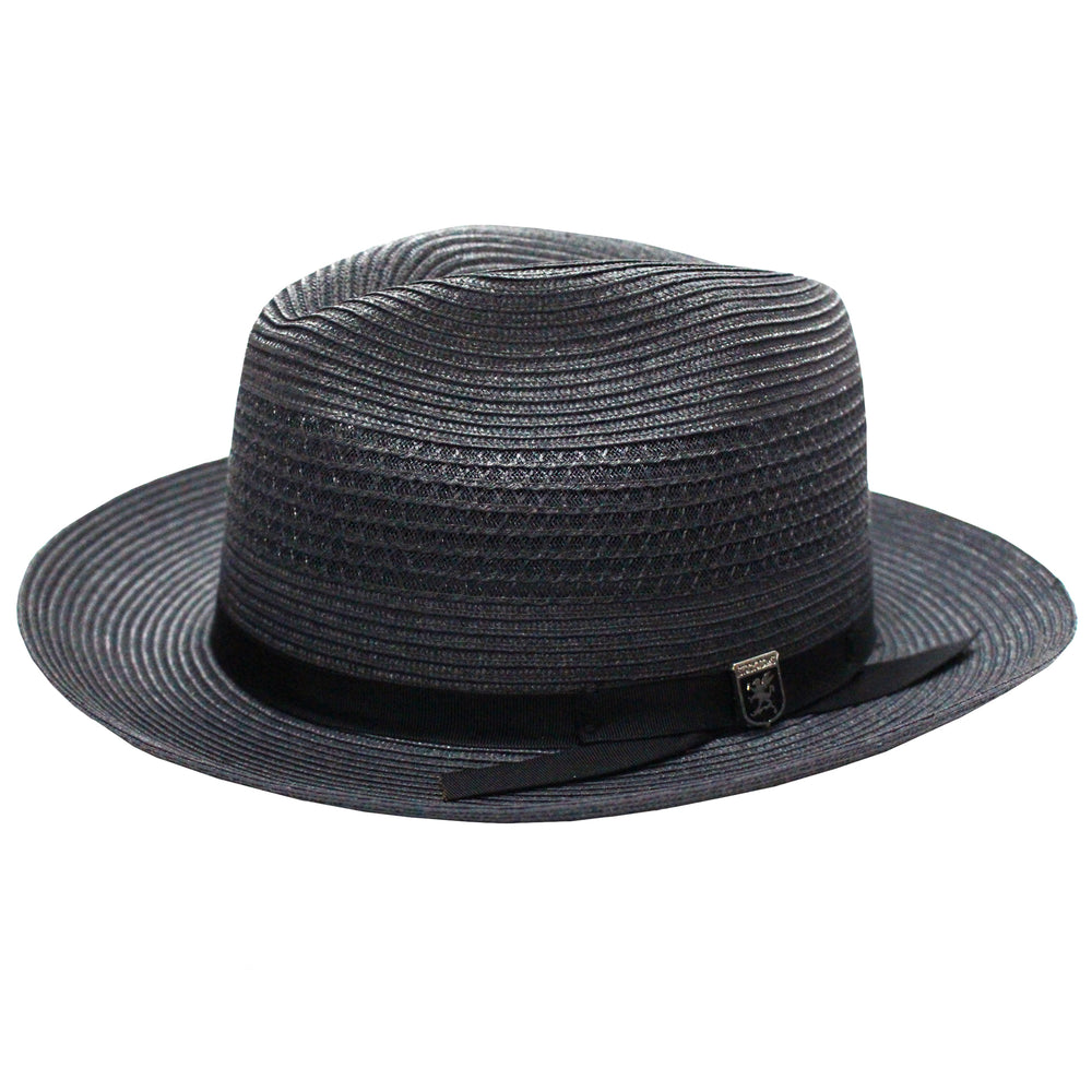 Stacy Adams Dayton Steel Poly Braid Fedora Hat