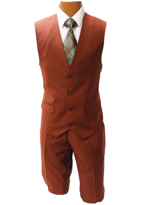 Stacy Adams Bud Rust Vested Suit