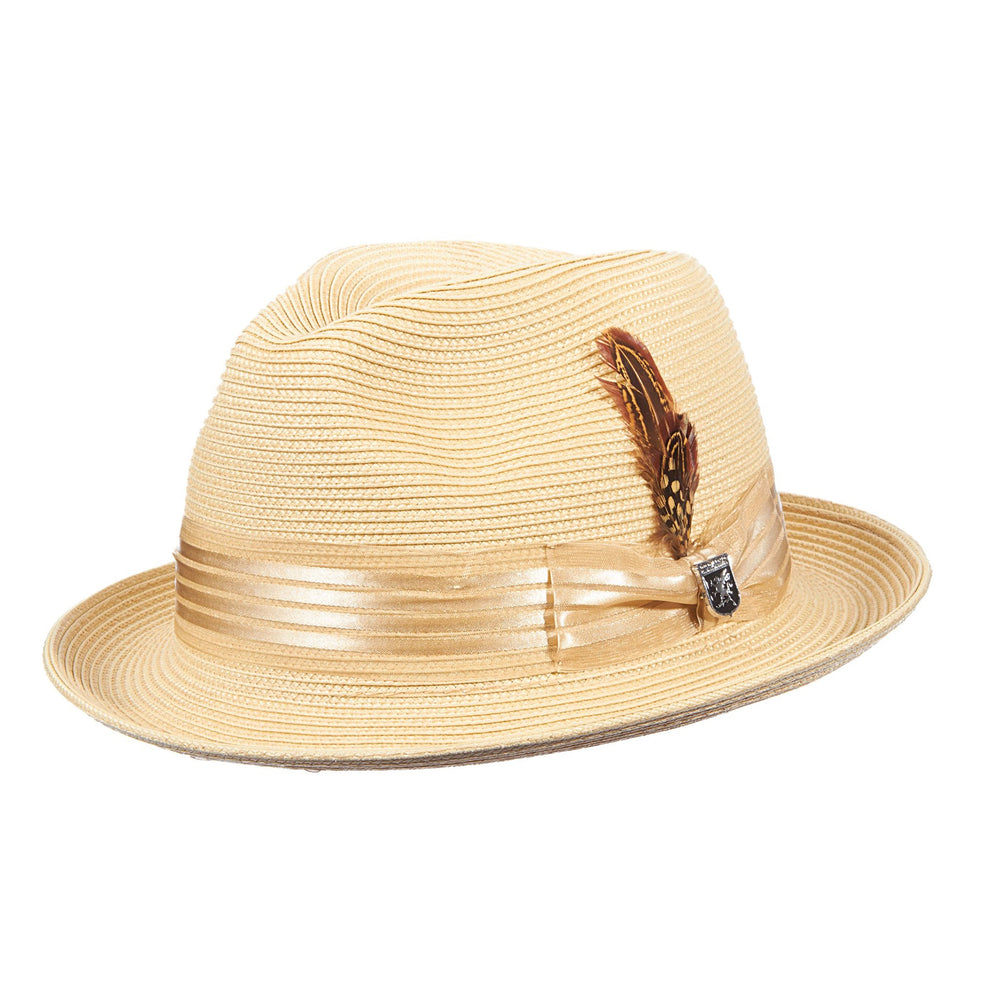 Stacy Adams Kingston Natural Poly Braid Fedora Hat