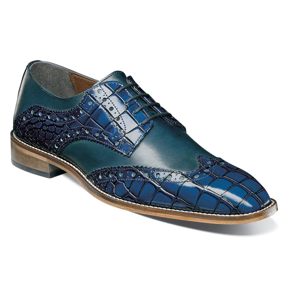 Stacy Adams Tomaselli Blue Wingtip Oxford Shoes