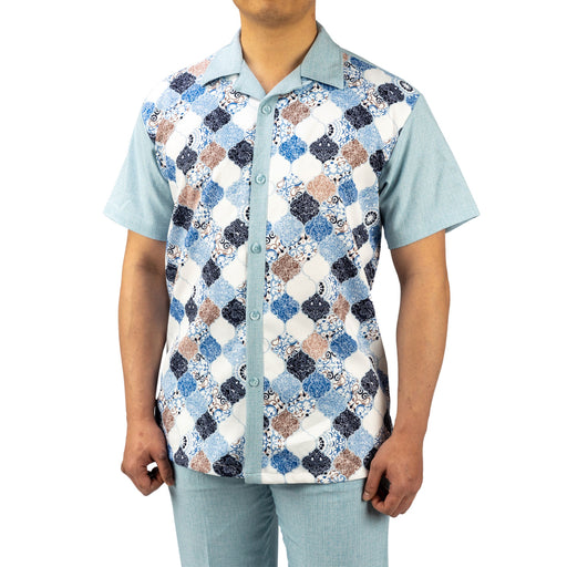 Bruno Conte Pattern Light Blue Walking Suit