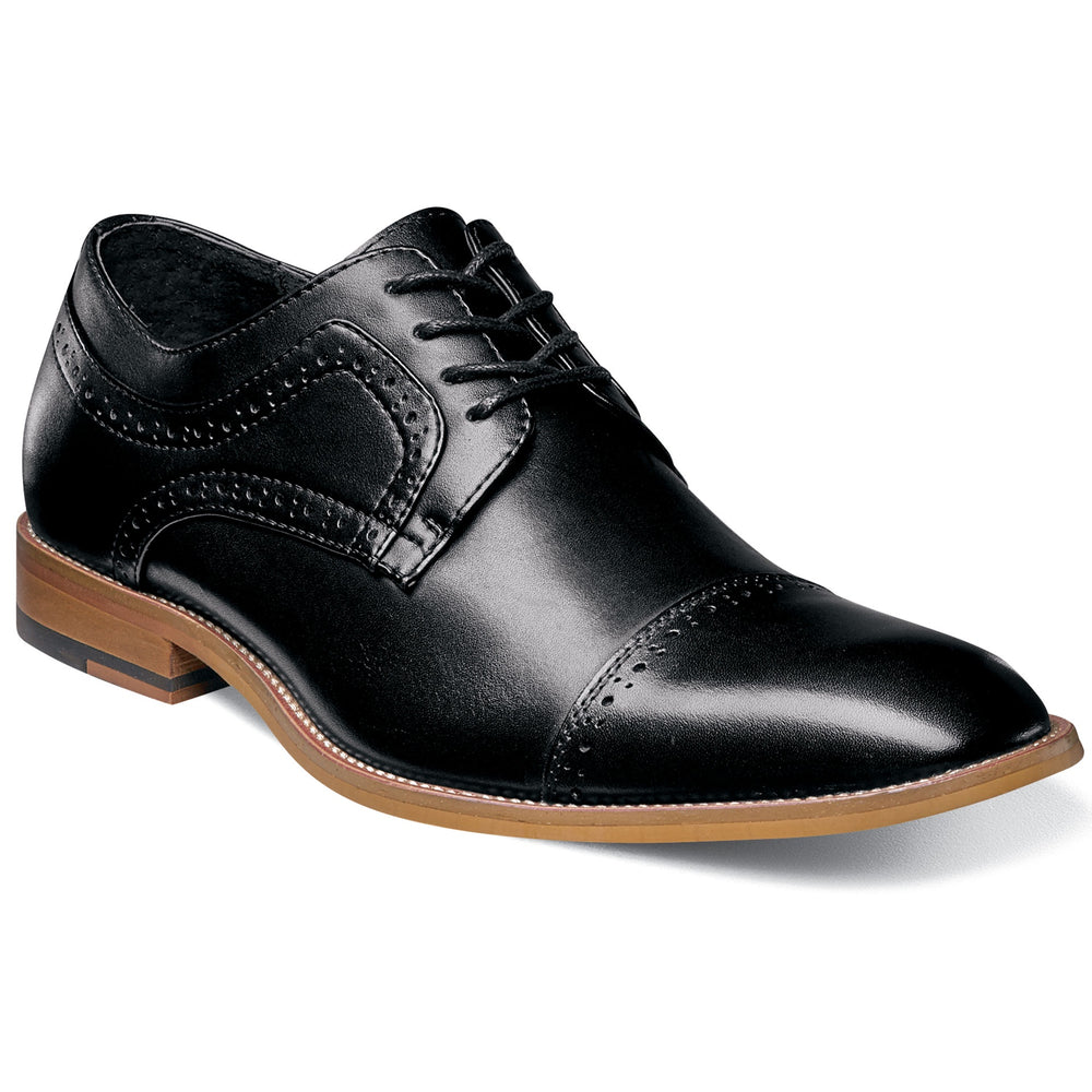 Stacy Adams Dickinson Black Cap Toe Oxford Shoes
