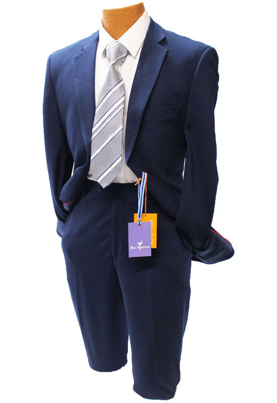 Blu Martini Bud Navy Real Flex Modern Fit Suit